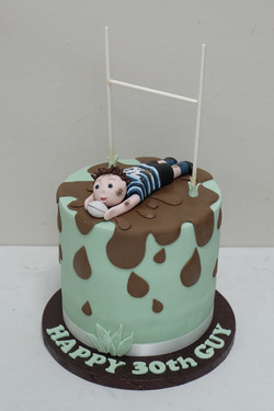Rugby Player Cake