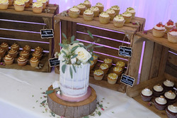 Wedding Cupcakes with Semi-Naked Single