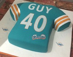 American Football Shirt Birthday Cake