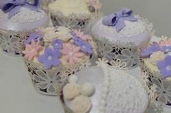 Pretty Lace Cupcakes