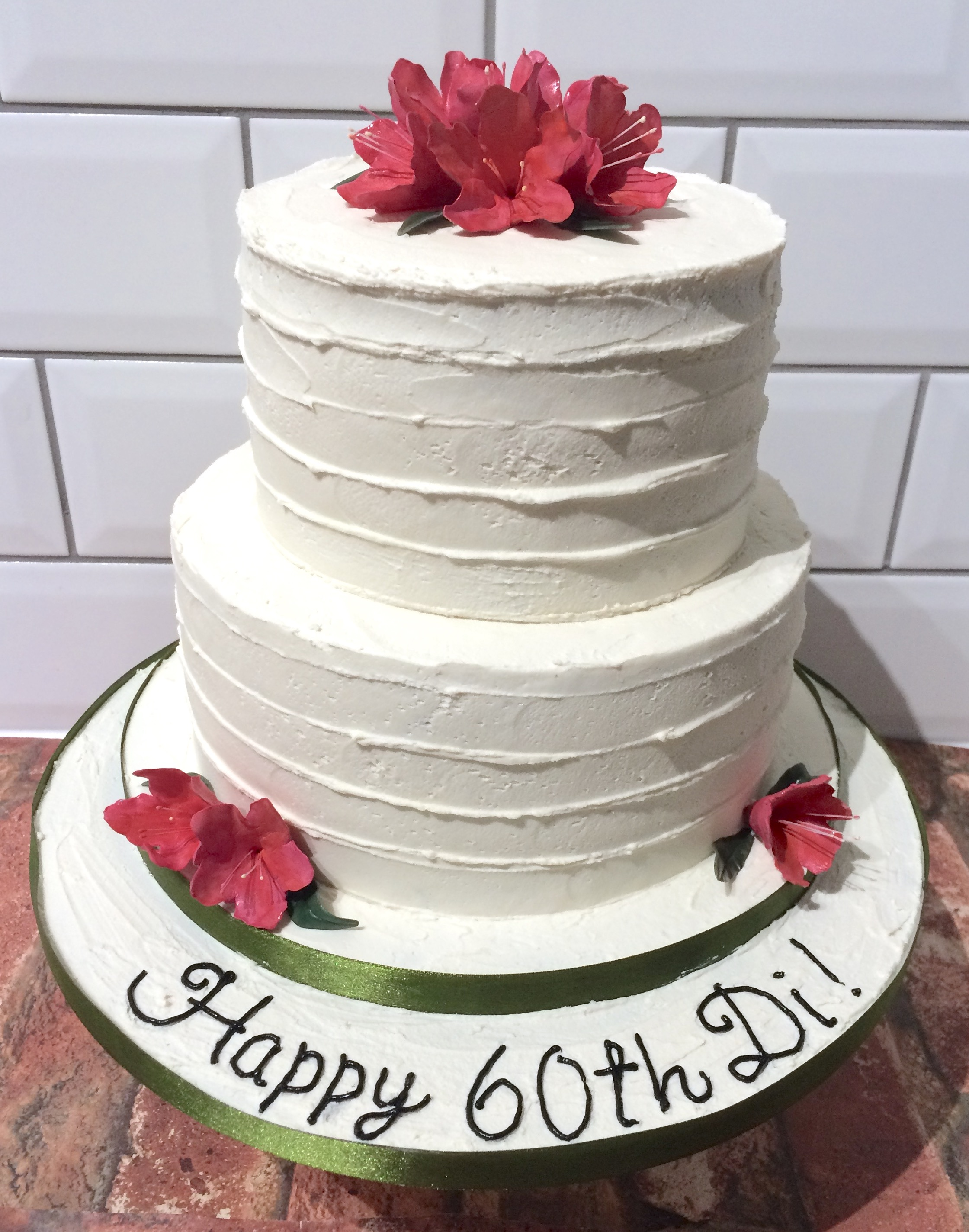 Rhododendron Buttercream Birthday Cake