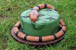 Jungle Reptile Party Snake Cake 2