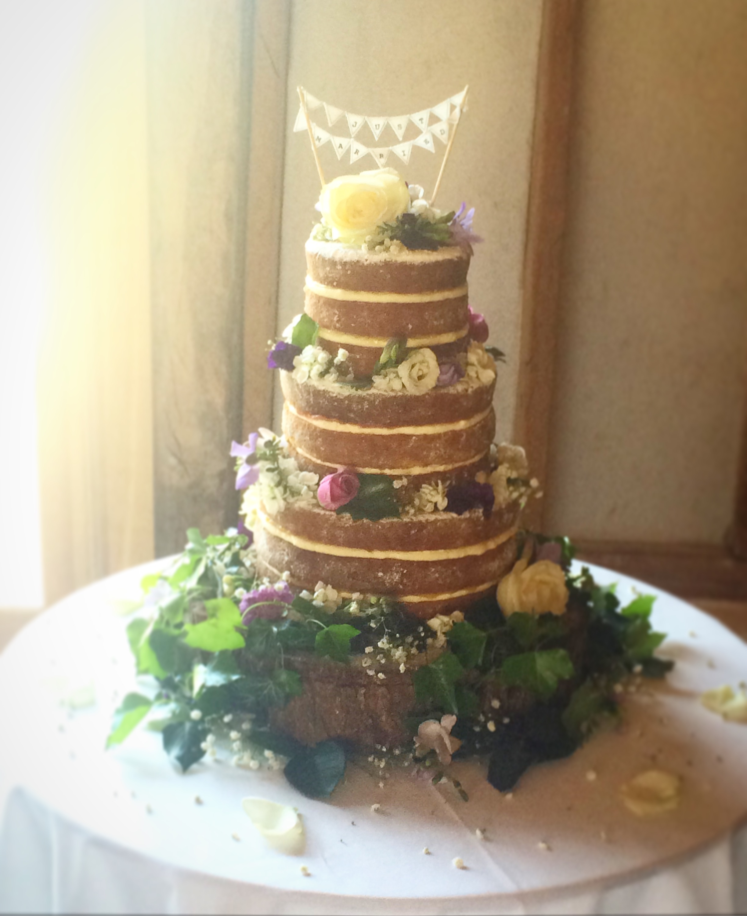 Naked Cake Barn Wedding