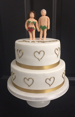 Naked Topper Wedding Cake