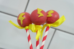 Lightening Mcqueen Cake Pops