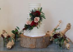 Ridged Buttercream Wedding Cake with Wil