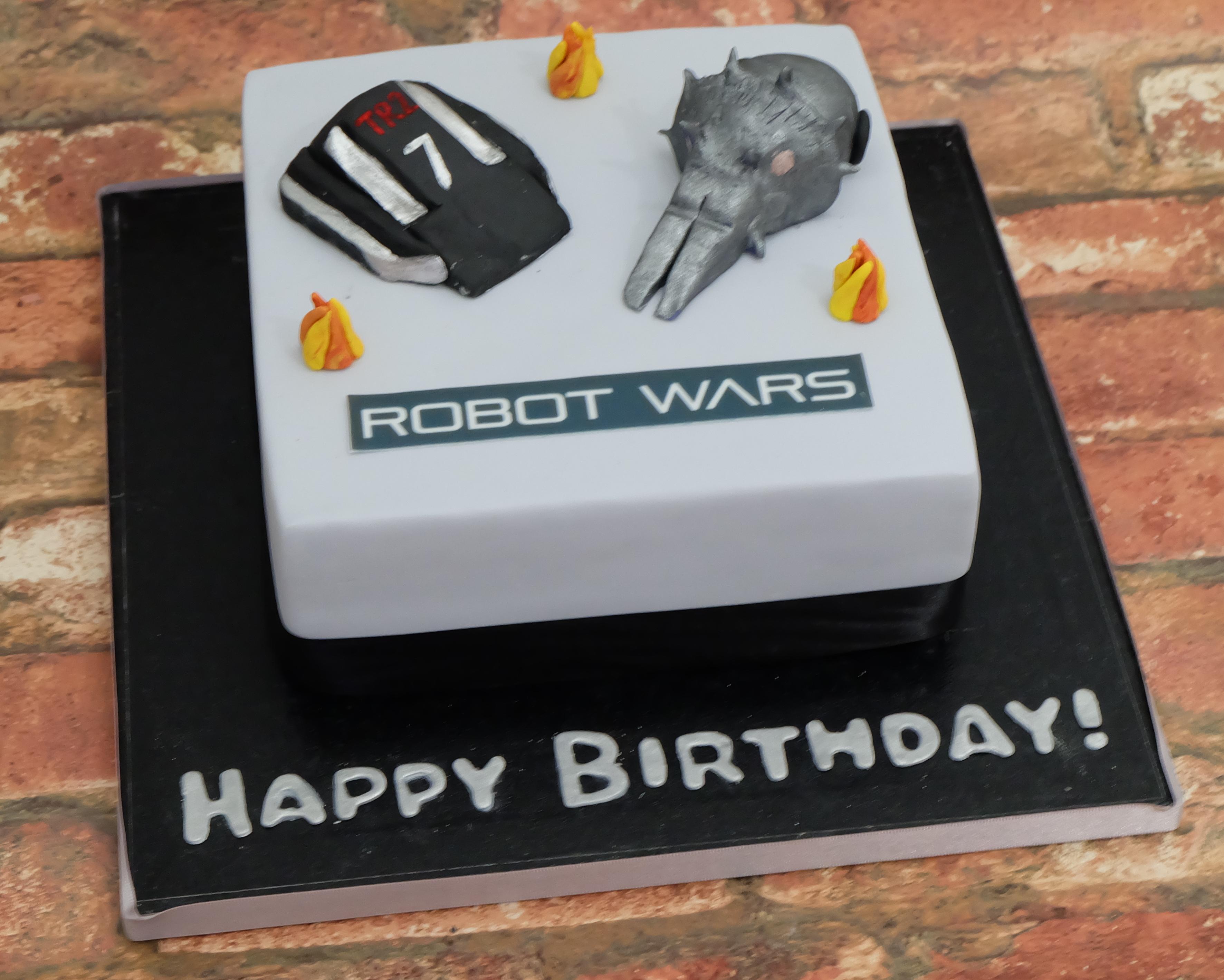 Robot Wars Cake