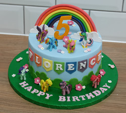 My Little Pony Garden Sky Rainbow Cake .