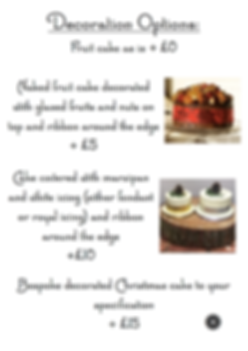 Chirstmas cake options