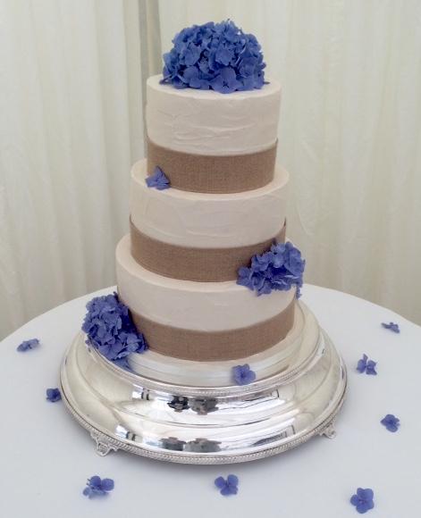 Hydrangea Buttercream Wedding Cake
