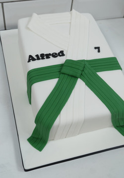 Green Belt Judo Birthday Cake  2