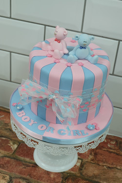 Boy or Girl Reveal Cake