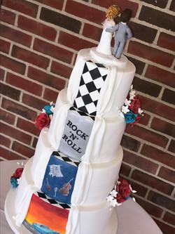 Rock n Roll Wedding Cake2