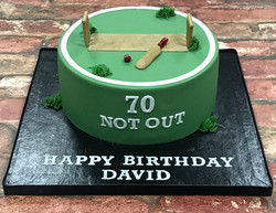 Cricket Themed Cake