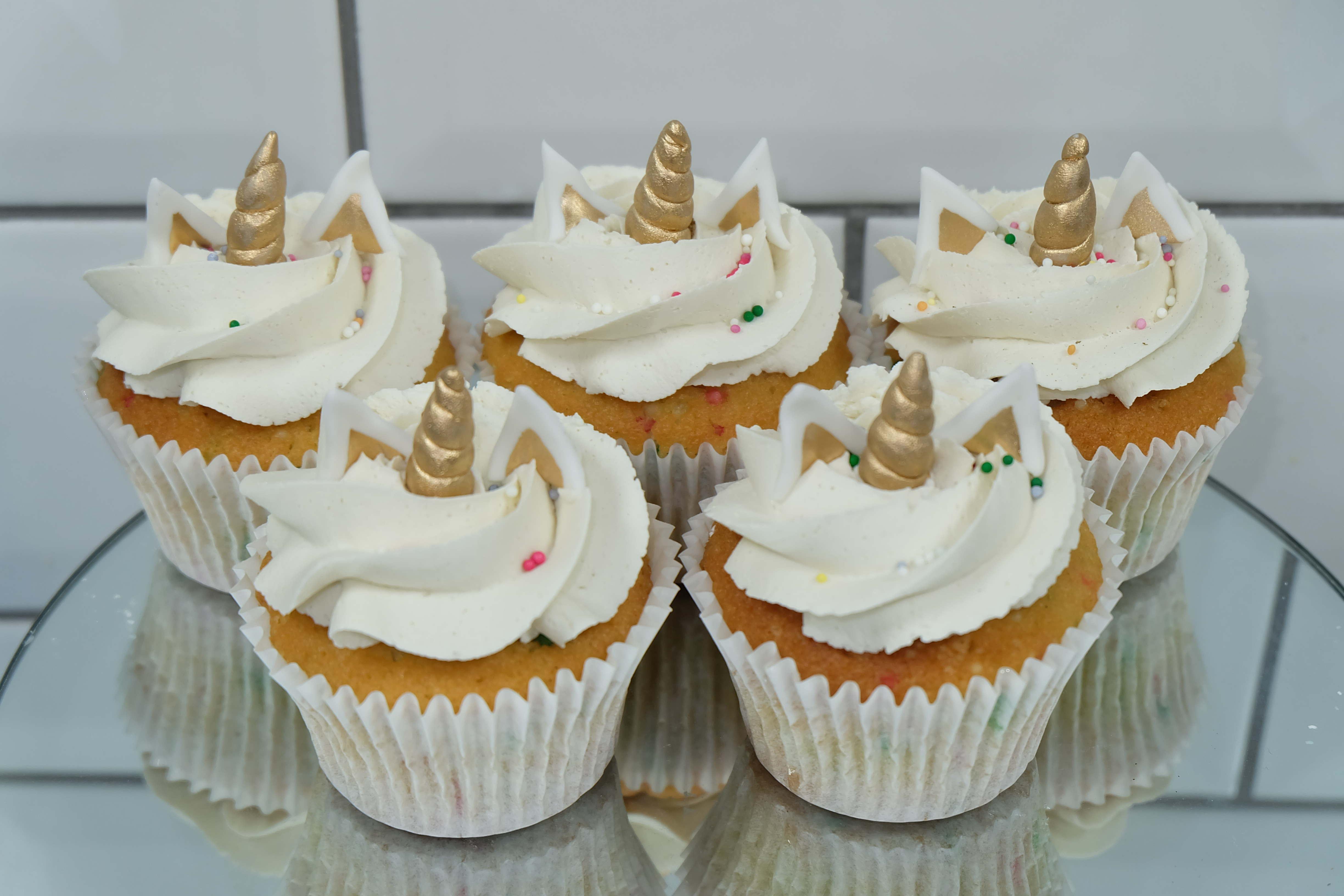 Unicorn Buttercream Cupcakes
