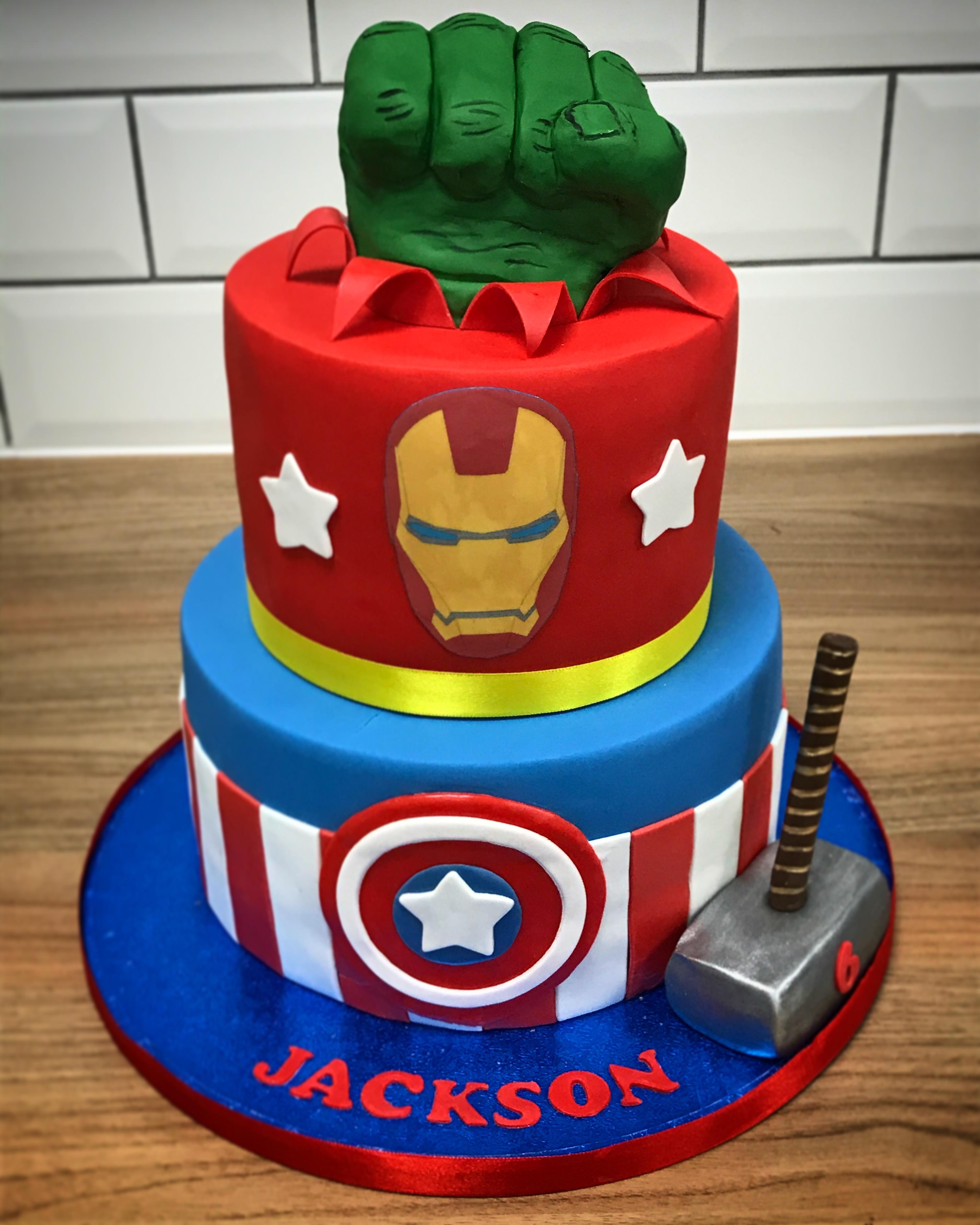 Marvels Avengers Cake