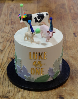 Farm Animals Modern Childrens Cake