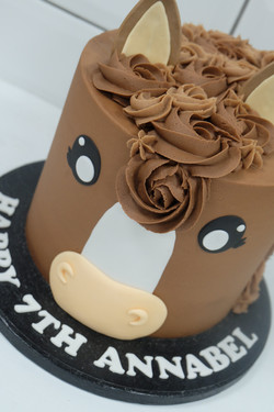 Buttercream Horse Cake