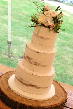 3 Tier Semi Naked Cake with Flowers 10
