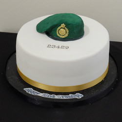 Royal Marines Beret Cake