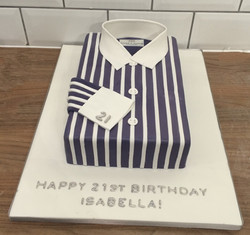 Striped Shirt Birthday Cake
