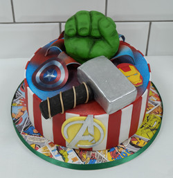 Marvels Avengers Birthday Cake