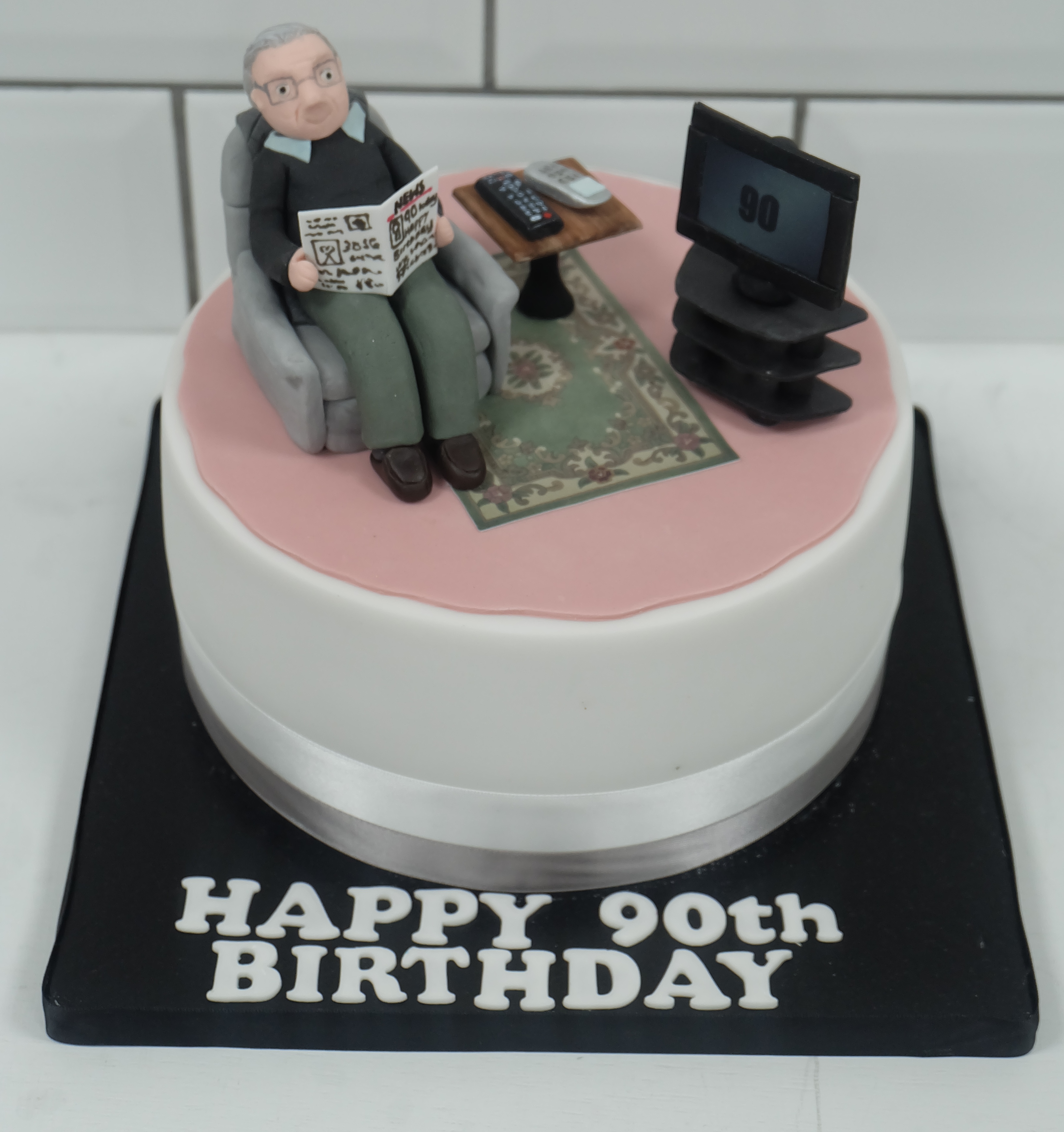 Personalised Grandpa Model Birthday Cake