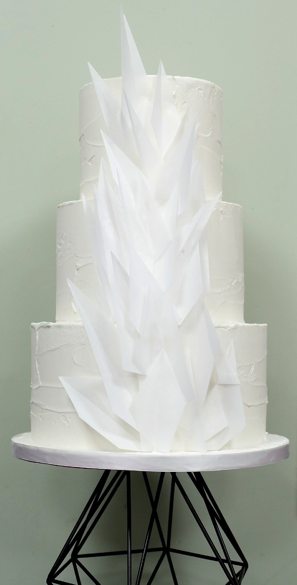 Textured Origami Wedding Cake