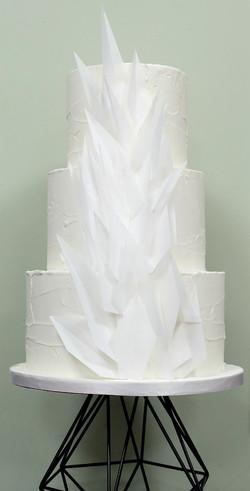Textured Origami Wedding Cake