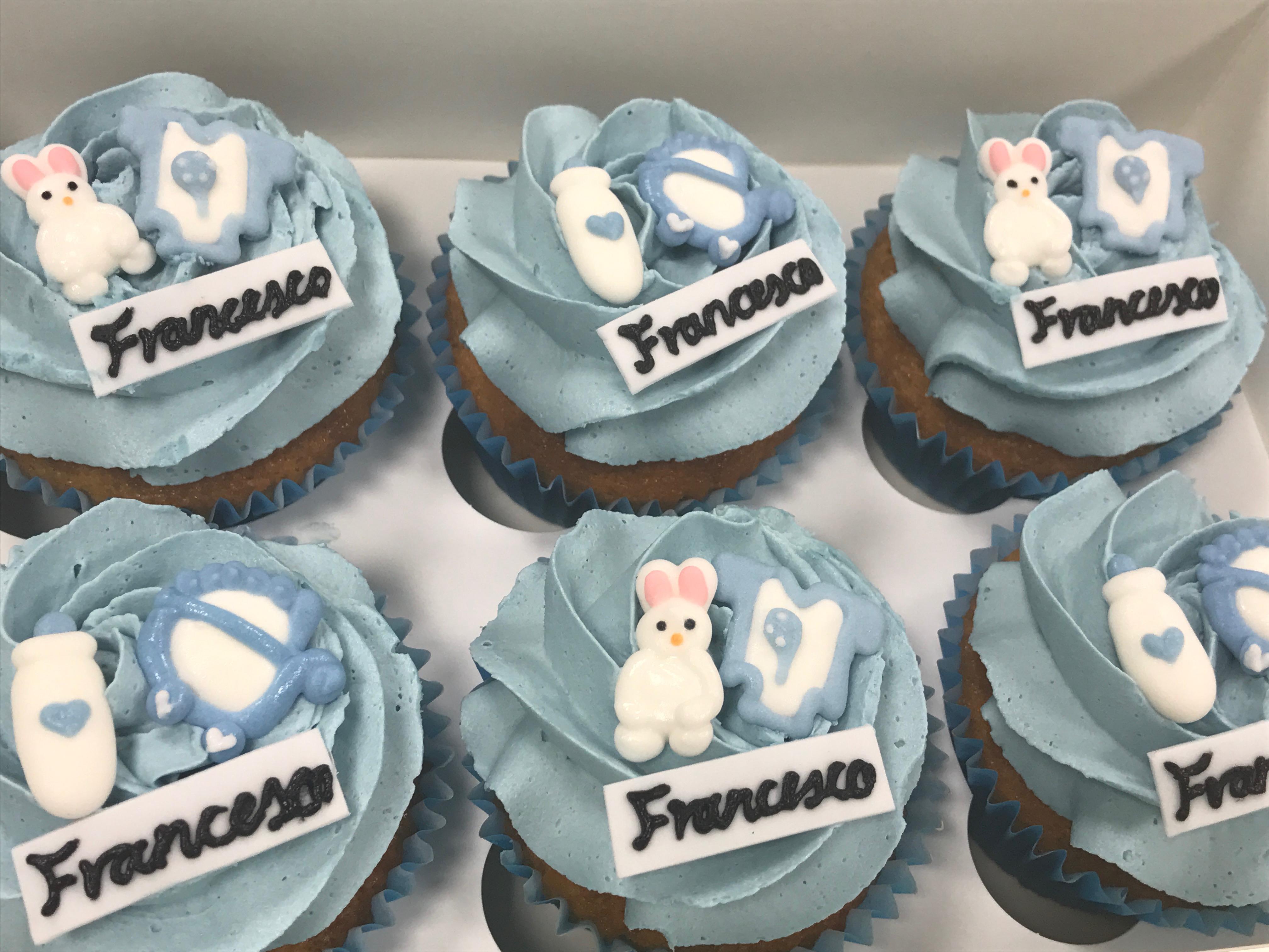 Baby Boy Cupcakes 2