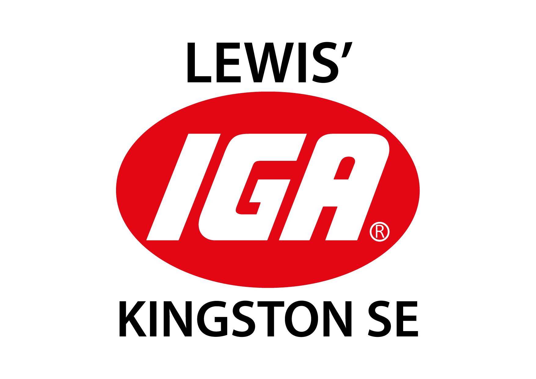 Lewis' IGA Kingston SE Logo-01