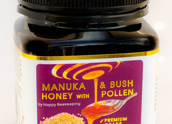 HBK's Honey+: The Planet Most Nutritious food, Crafted with our Manuka Blend and Bee-Pollen, Honey + Pollen is packed with a