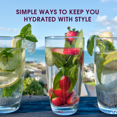 Simple Ways to keep hydrated during hot summer days!