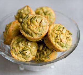 Savoury Spinach Muffins