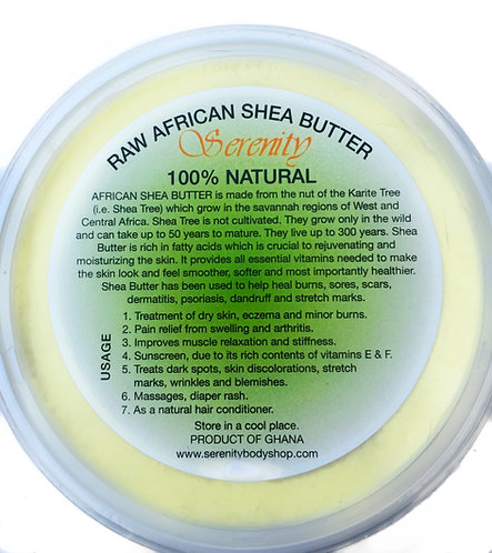 SERENITY RAW AFRICAN SHEA BUTTER