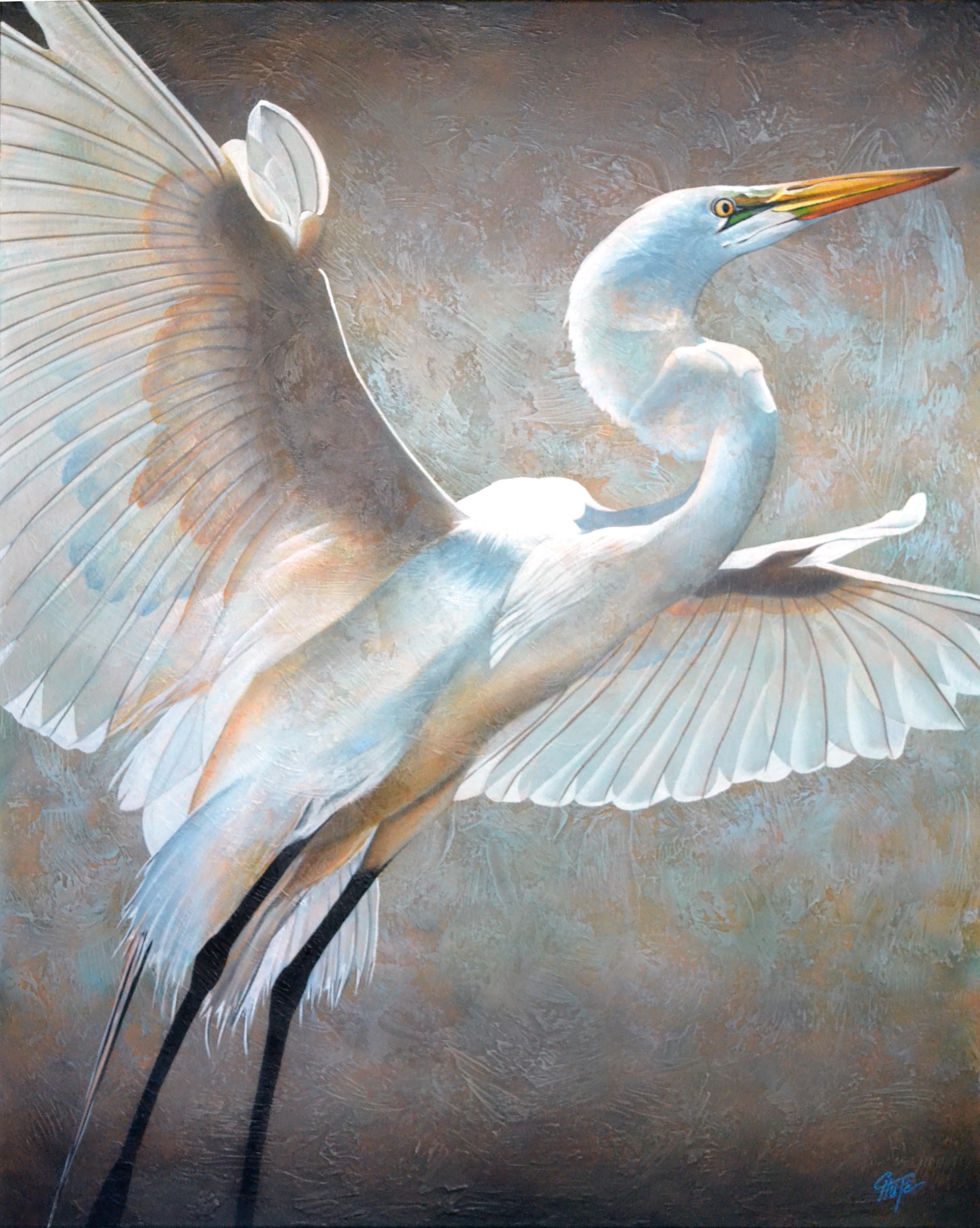 """Soaring Egret"""