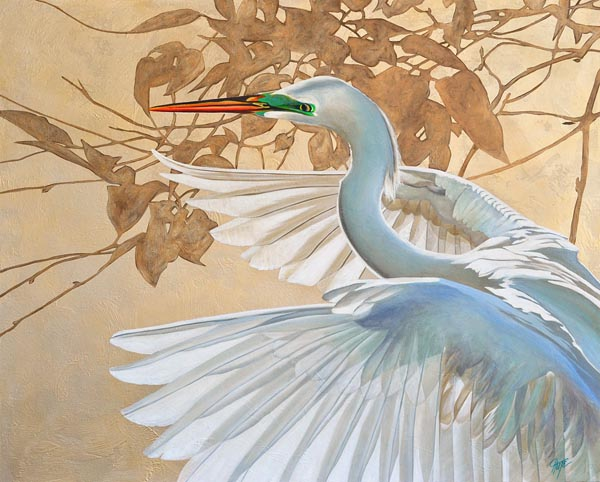 """Luminous Egret"""