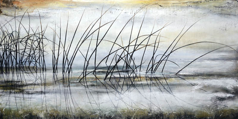 """Reeds On A Misty Morning"""