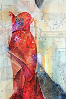 """Dress Pattern #9 - """"Red Gown"""""""
