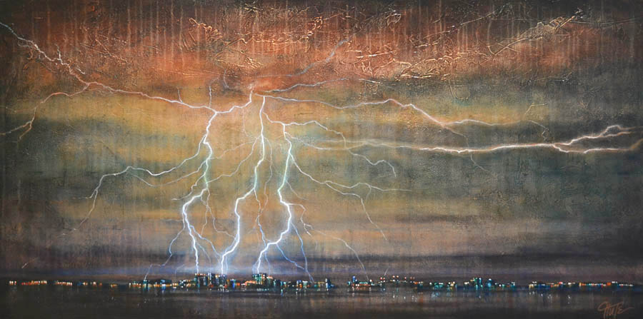 """Lightning Over Downtown"""