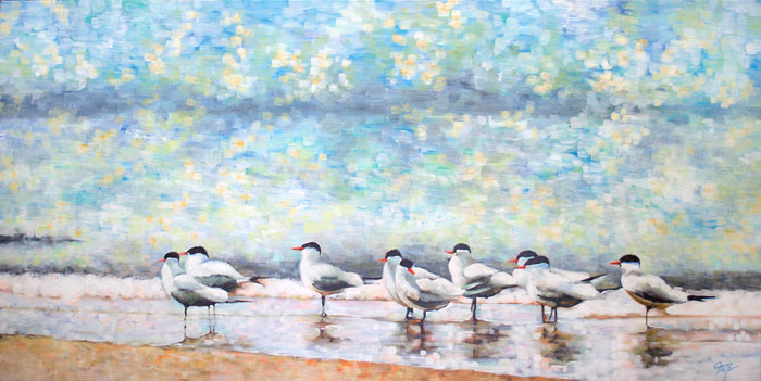 """Terns On The Beach"""