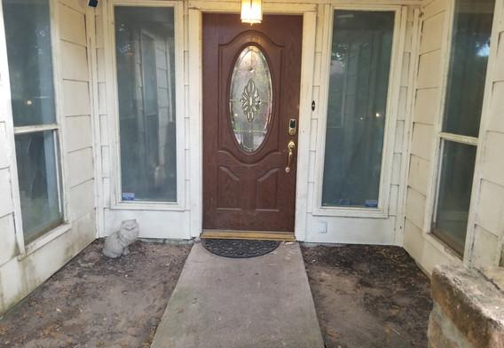 Front Door Windows Before