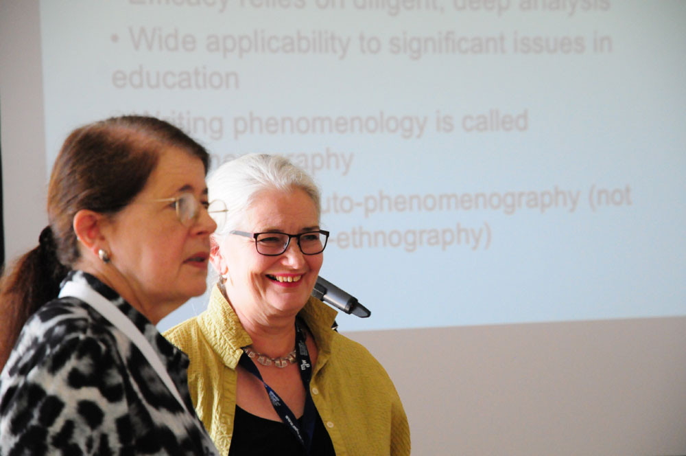 Jane Southcott (L) and Karin Greenead (R) at ICDS2 in Vienna