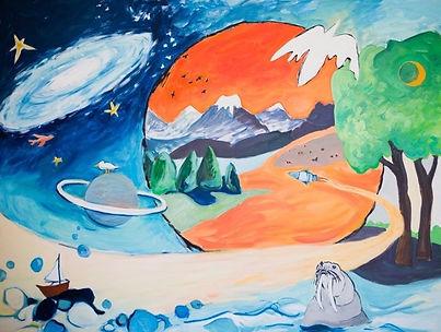 """Barbara Maloy, Painting, """"Portal Series-Rocket"""", 30"""" x 40"""" -2019.j"""