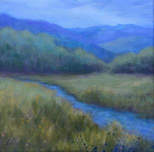"Jordan Painting, Acrylic, ""Summer Green"""