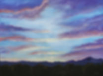 "Audrey Wilcox, Painting, ""Setting Over Indian Peaks"""