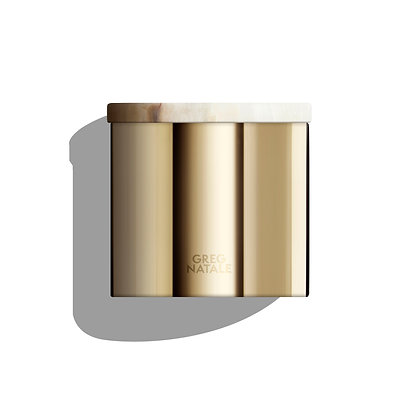 WHOLESALE  - GREG NATALE | 600G BRASS AND ONYX CANDLE | RRP $140