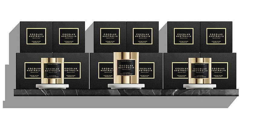 WHOLESALE  - LUNA | BRASS CANDLE & REFILL PACKAGE | RETAIL VALUE $1330