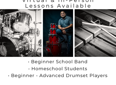 Back to School & Drum Lessons