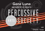 Percussive Arts Society | GeneLuna.com